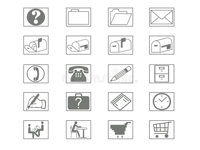 De Reeks van het pictogram stock illustratie