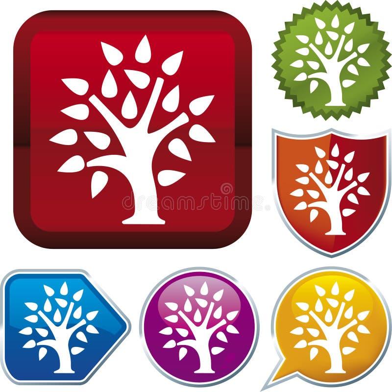 De reeks van het pictogram: boom (vector) vector illustratie