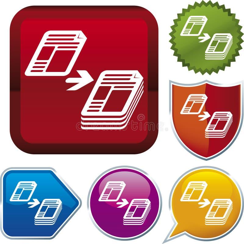 De reeks van het pictogram: exemplaar vector illustratie