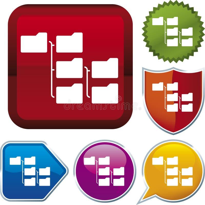 De reeks van het pictogram: hiërarchie vector illustratie