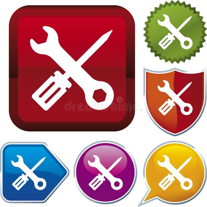 De reeks van het pictogram: hulpmiddelen royalty-vrije illustratie