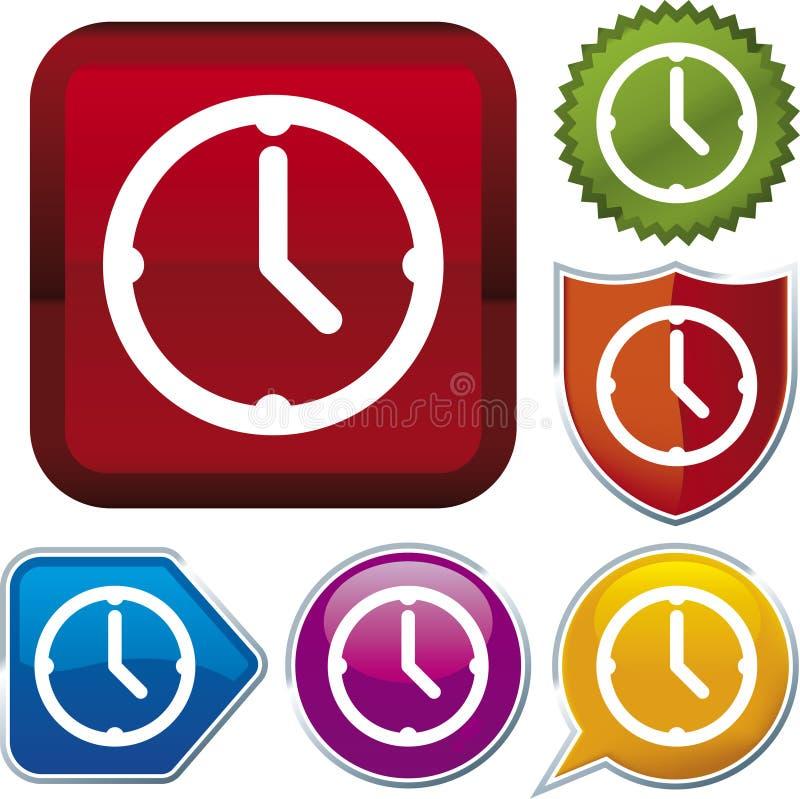 De reeks van het pictogram: klok (vector) vector illustratie