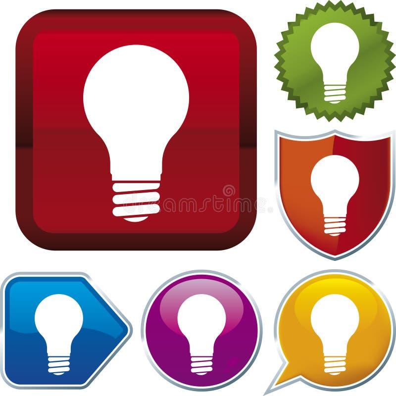 De reeks van het pictogram: lightbulb (vector vector illustratie