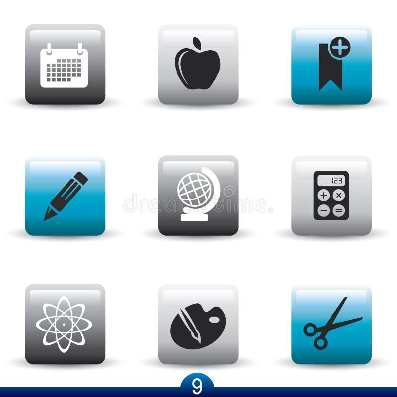 De reeks van het pictogram - onderwijs stock illustratie