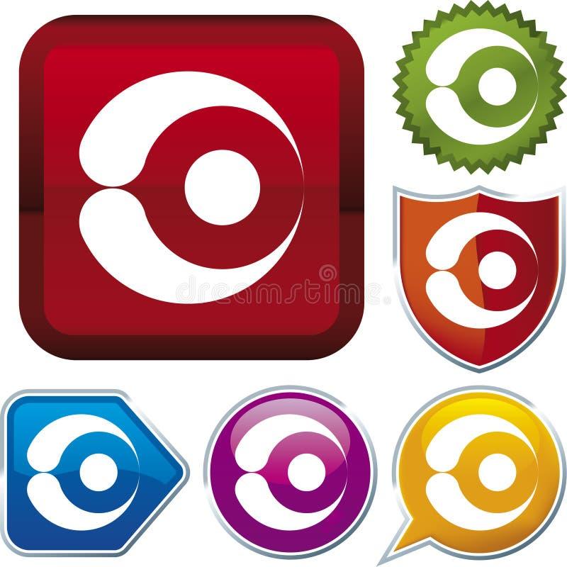 De reeks van het pictogram: oog (vector) stock illustratie