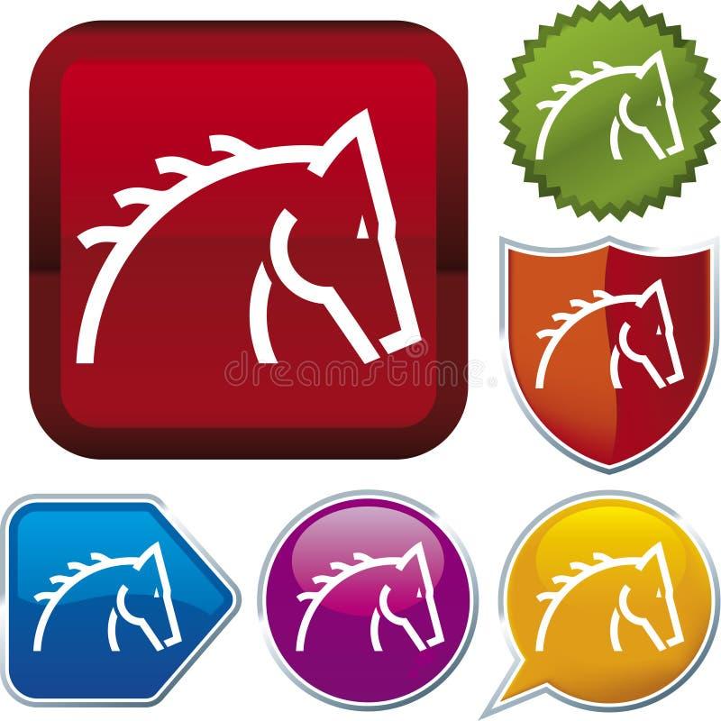 De reeks van het pictogram: paard (vector) stock illustratie