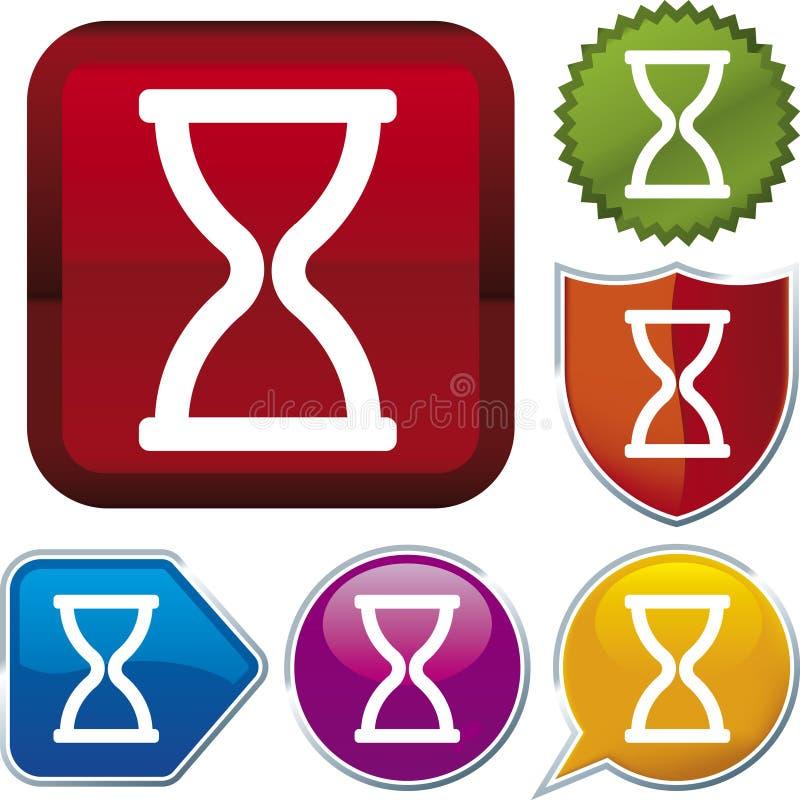 De reeks van het pictogram: tijd (vector) royalty-vrije illustratie