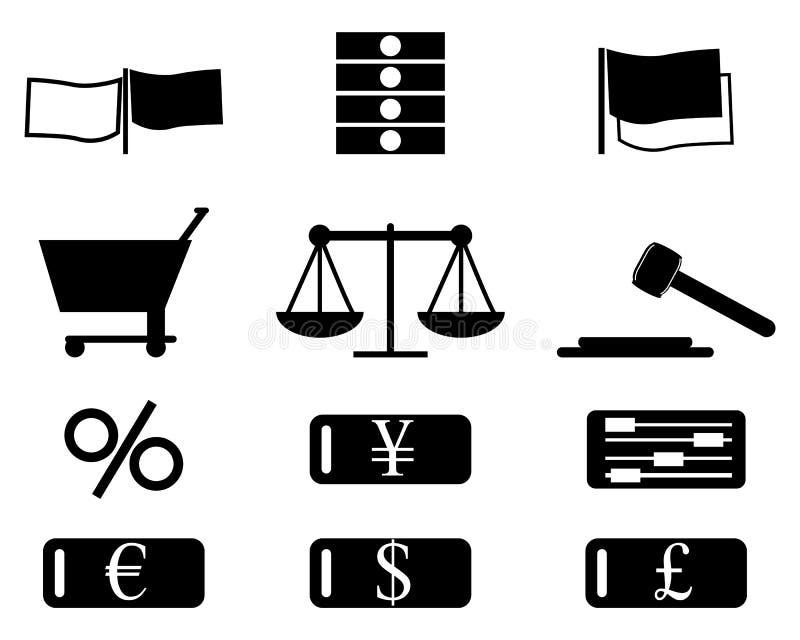 De Reeks van het Pictogram van financiën vector illustratie