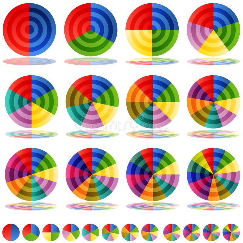 De Reeks van het Pictogram van het Doel van het Cirkeldiagram royalty-vrije illustratie