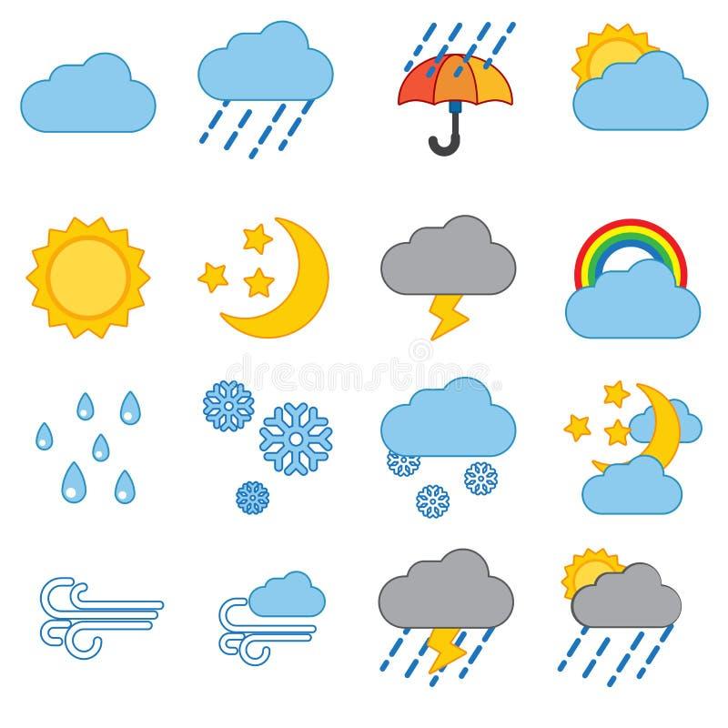 De Reeks van het Pictogram van het weer vector illustratie