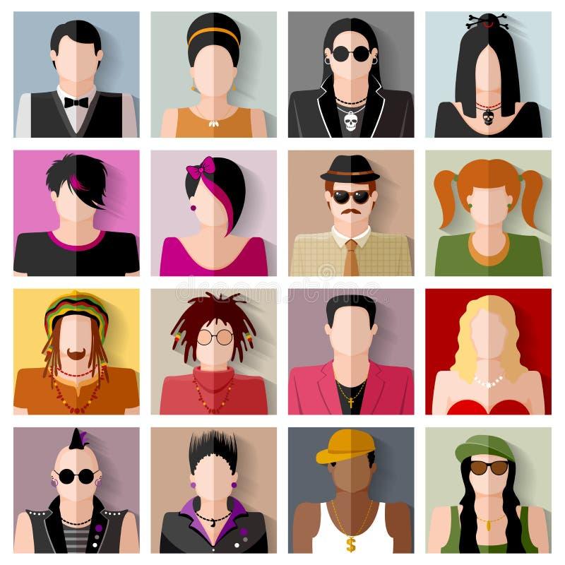 De Reeks van het Pictogram van mensen royalty-vrije illustratie