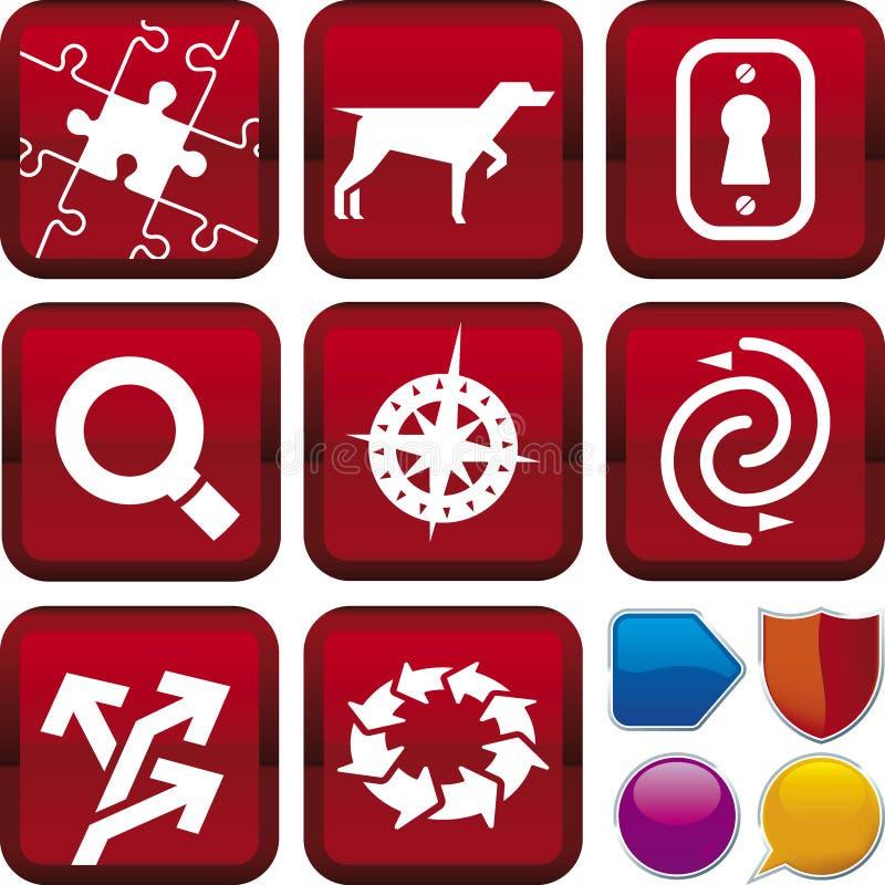 De reeks van het pictogram: zoek & vindt royalty-vrije illustratie