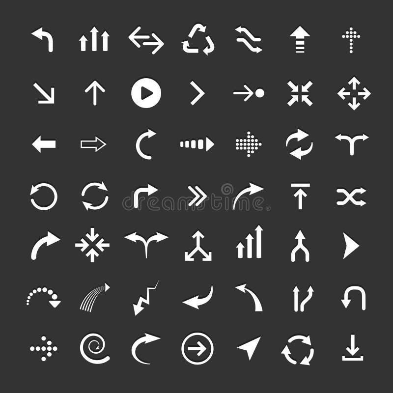 De Reeks van het pijlpictogram stock illustratie