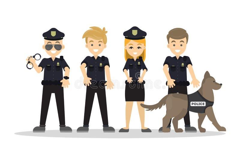 De reeks van het politiepersoneel vector illustratie