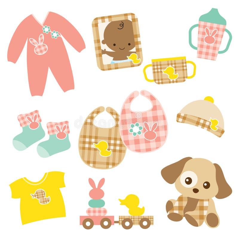 De Reeks van het Product van de baby stock illustratie