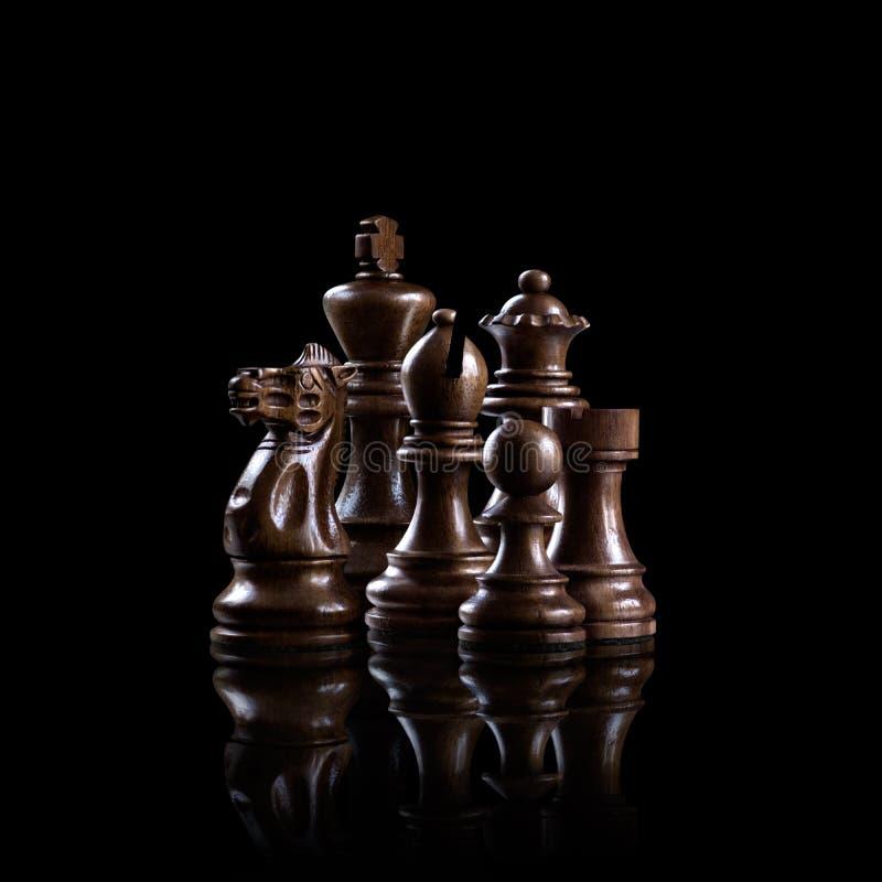 De reeks van het schaak stock afbeeldingen