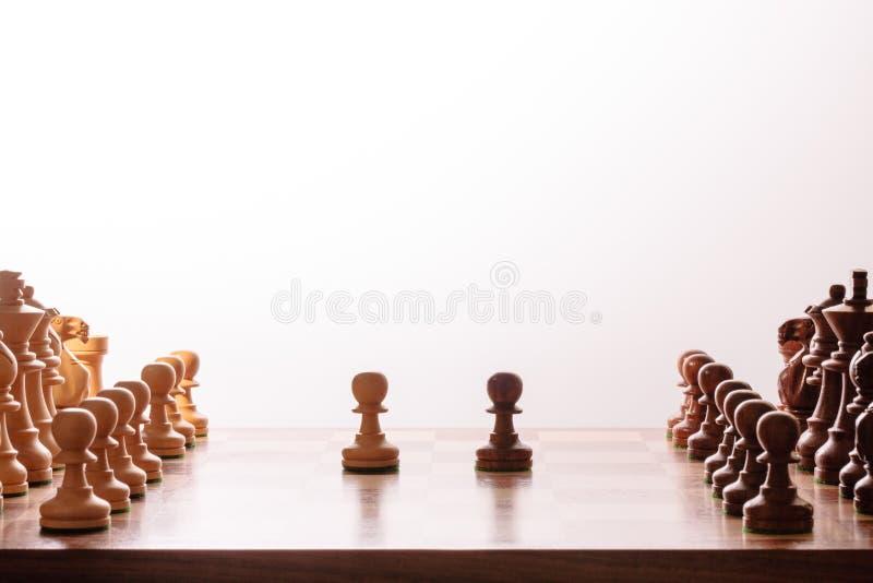 De reeks van het schaak stock afbeelding