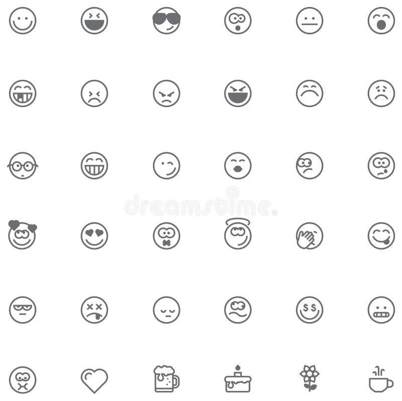 De reeks van het Smileypictogram stock illustratie