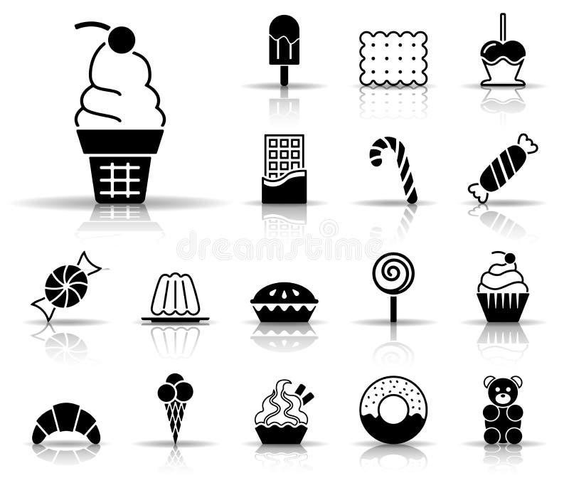 De Reeks van het snoepjespictogram royalty-vrije illustratie
