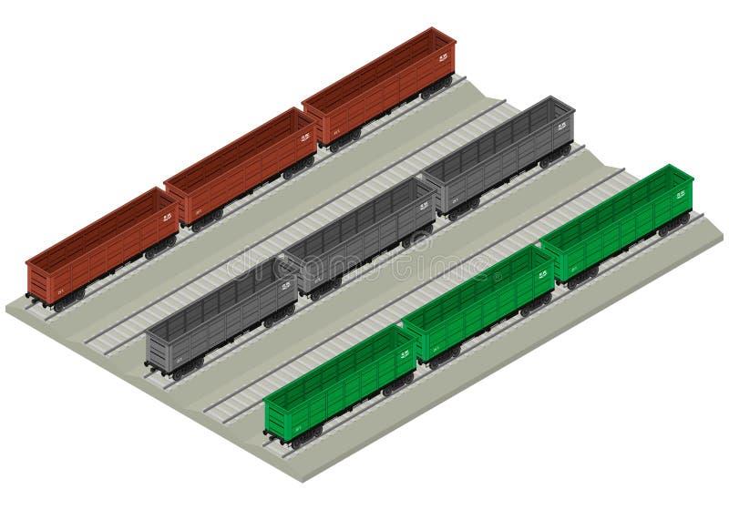 De reeks van het spoorwegvervoer stock illustratie