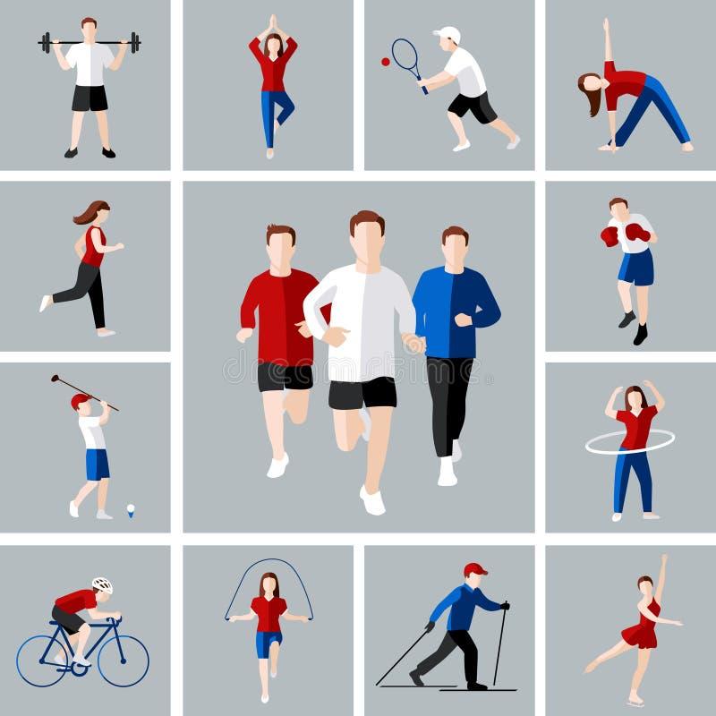 De reeks van het sportpictogram royalty-vrije illustratie