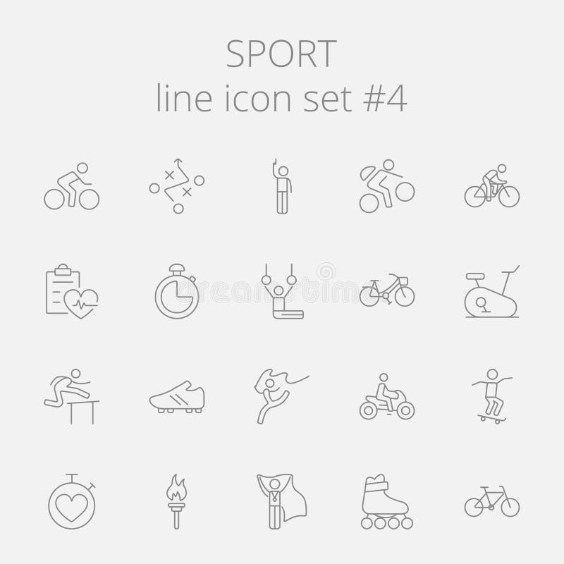 De reeks van het sportpictogram vector illustratie