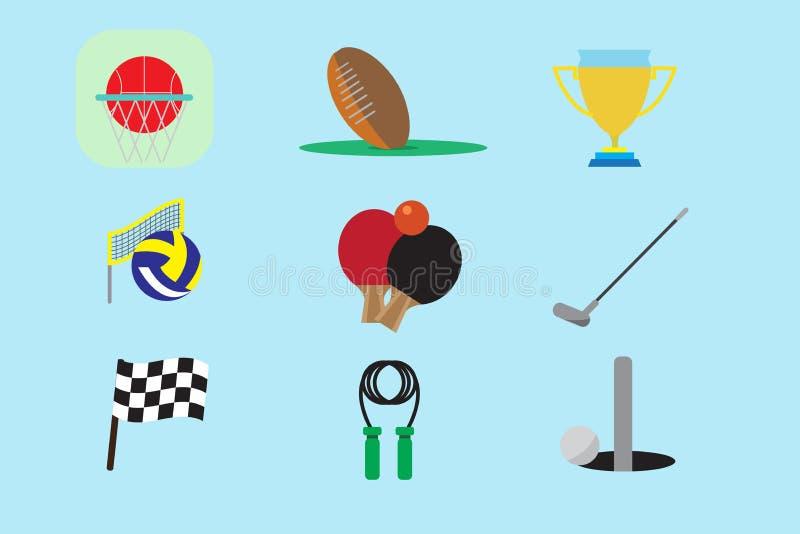 De reeks van het sportpictogram royalty-vrije stock afbeelding