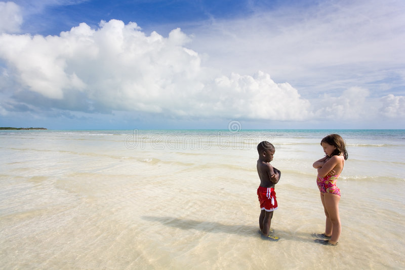 De Reeks van het strand - Diversiteit stock foto