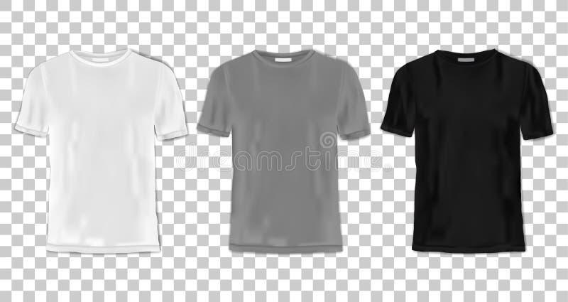 De reeks van het t-shirtmalplaatje stock illustratie
