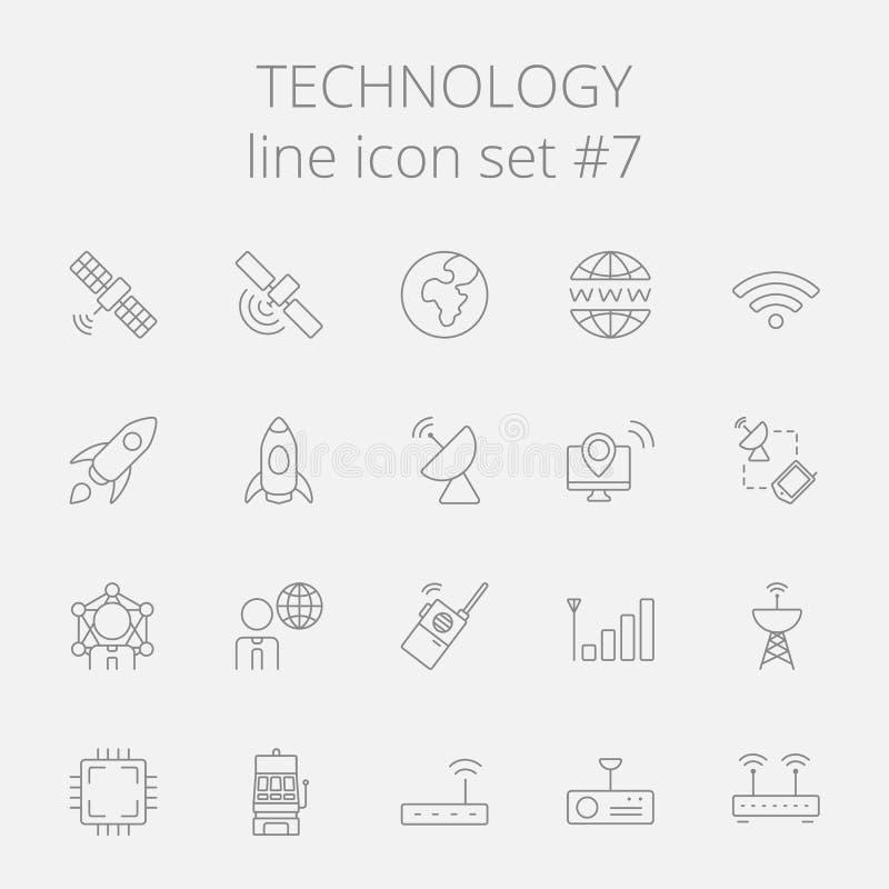 De Reeks van het technologiepictogram vector illustratie