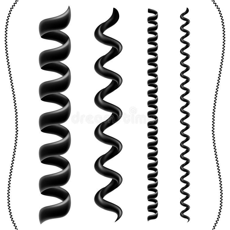 De reeks van het telefoonkoord stock illustratie