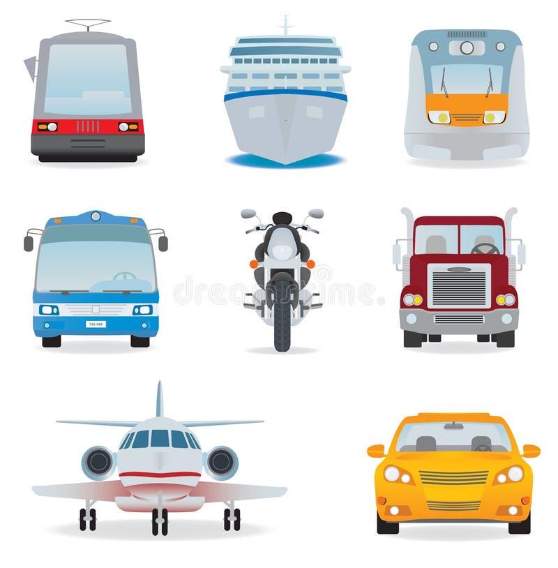De reeks van het vervoer royalty-vrije illustratie