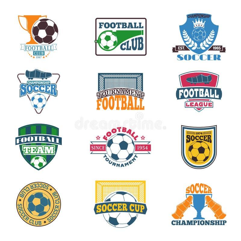 De reeks van het voetbalteken vector illustratie