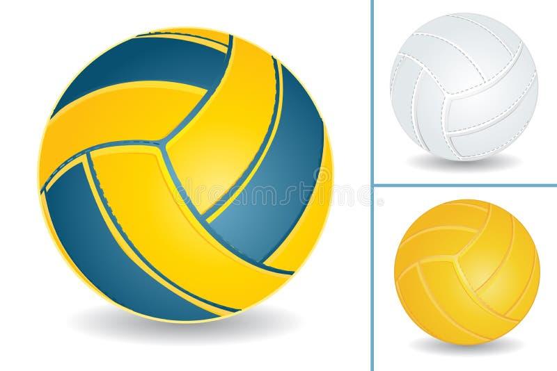 De reeks van het volleyball royalty-vrije illustratie