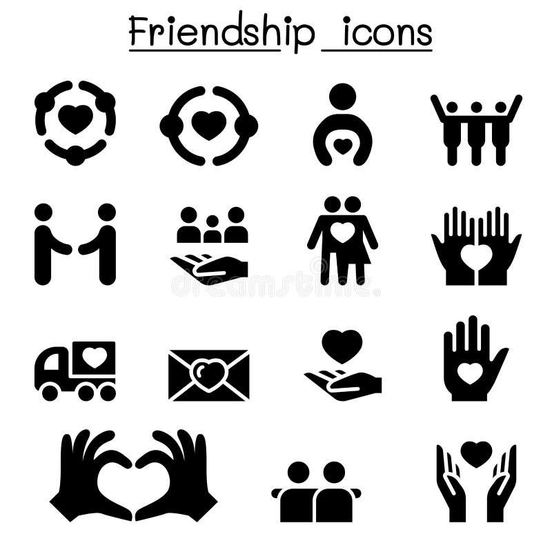 De reeks van het vriendschapspictogram vector illustratie