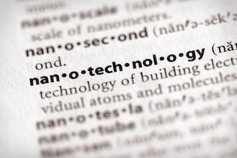 De Reeks van het woordenboek - Wetenschap: nanotechnologie royalty-vrije stock foto