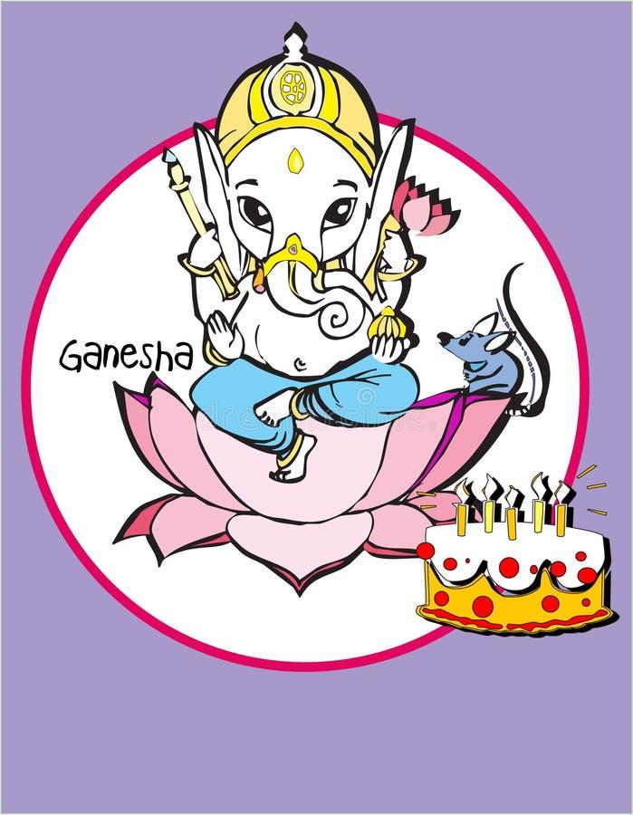 De reeks van India - Ganesh vector illustratie