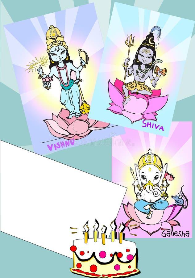 de reeks van India - ganesh? royalty-vrije illustratie