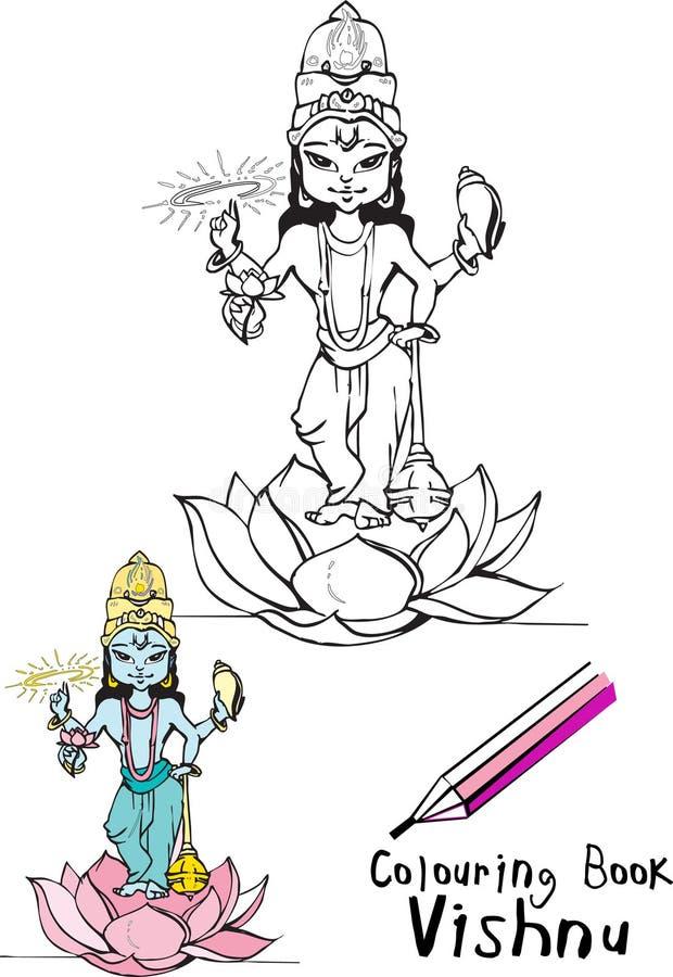 De reeks van India - Vishnu vector illustratie