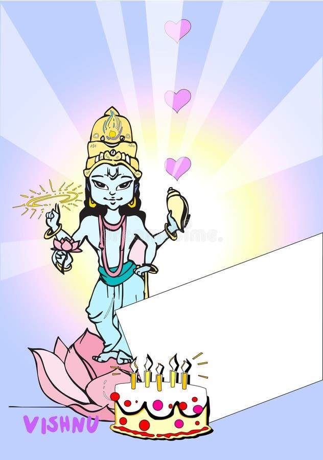 de reeks van India - Visnu/Vishnu royalty-vrije illustratie