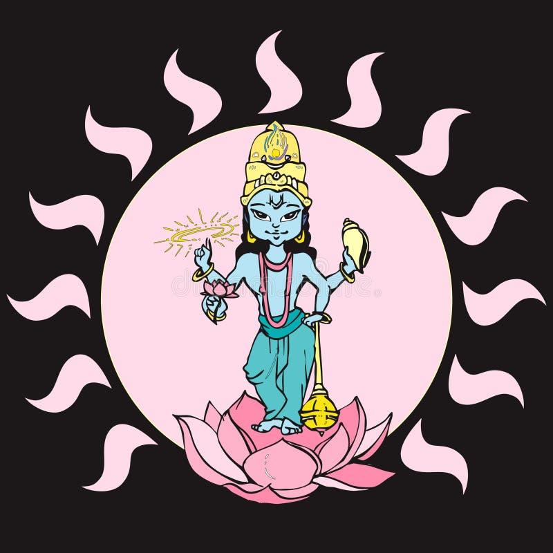 De reeks van India - Vshnu royalty-vrije illustratie