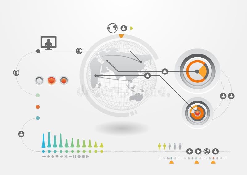 De reeks van Infographics en de Grafiek van de Informatie royalty-vrije illustratie