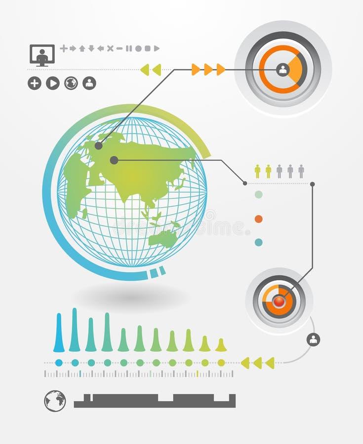 De reeks van Infographics en de Grafiek van de Informatie stock illustratie