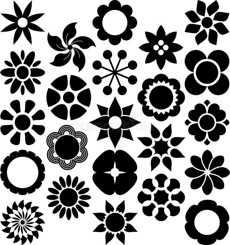 De reeks van ized Bloemen vector illustratie