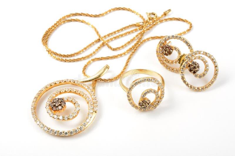 De reeks van juwelen royalty-vrije stock fotografie