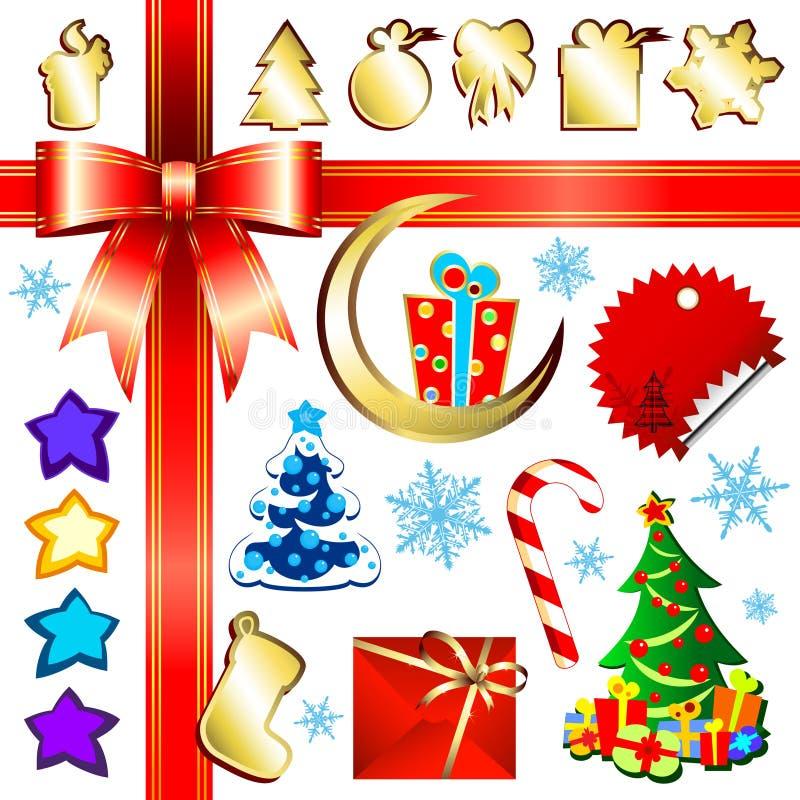 De reeks van Kerstmis vector illustratie