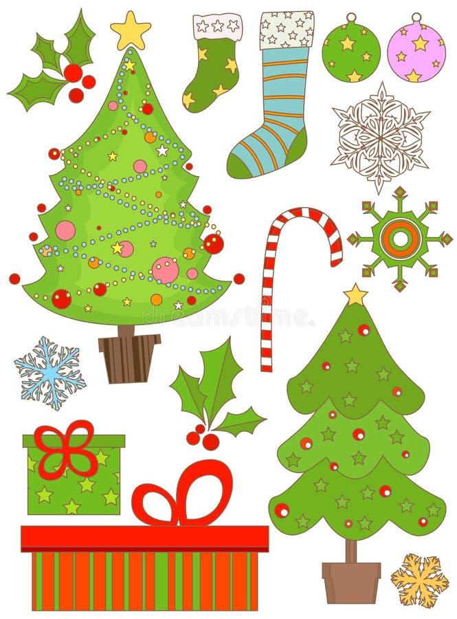 De reeks van Kerstmis royalty-vrije illustratie