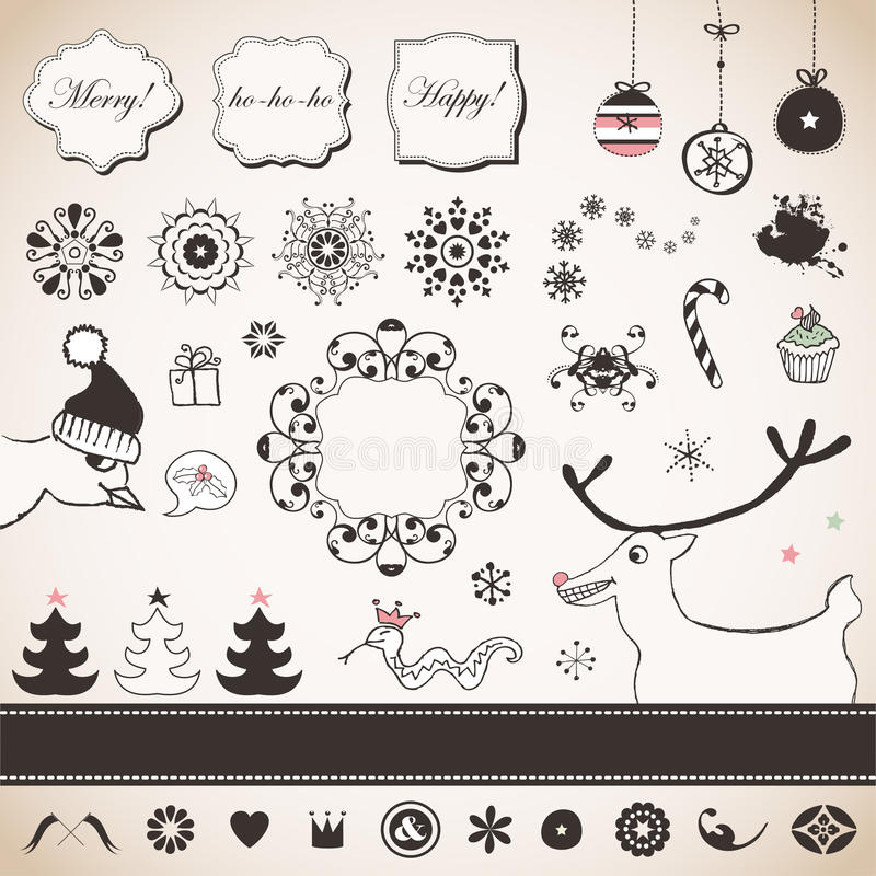 Download De reeks van Kerstmis vector illustratie. Illustratie bestaande uit hanging - 29509807