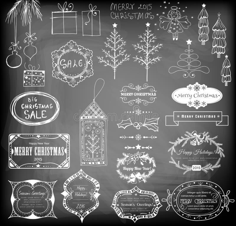 De reeks van Kerstmis stock afbeeldingen