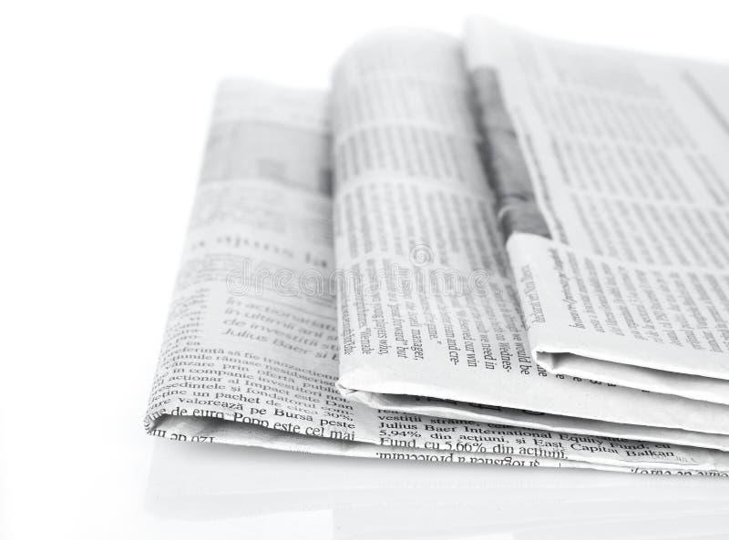 De reeks van kranten royalty-vrije stock foto's